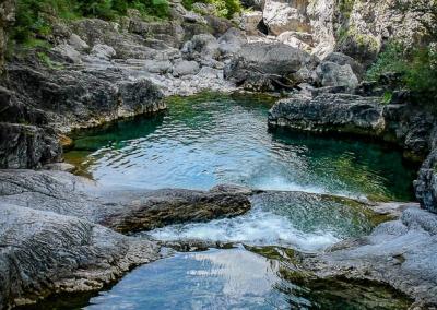 Vue du canyon de Miraval dans la nature
