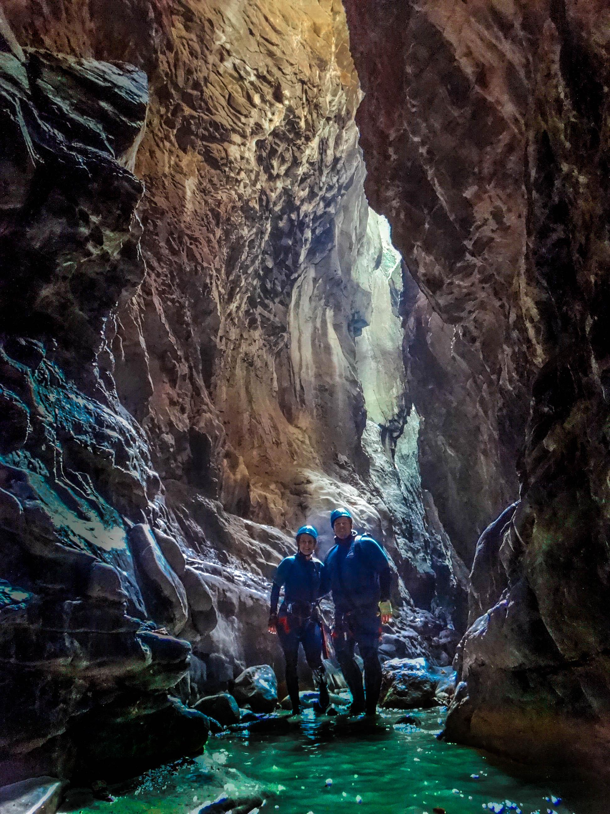 Le canyon de Gloces, considéré comme l'un des plus beaux des Pyrénées